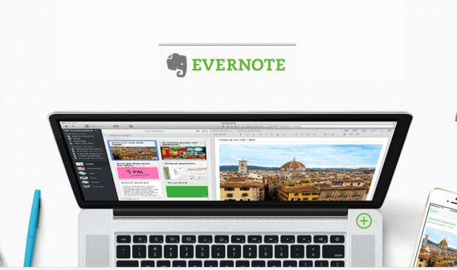Evernote usado en GTD productividad